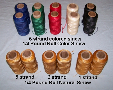 Sinew, Artificial, 1/4 lb roll, 5 strand 70#
